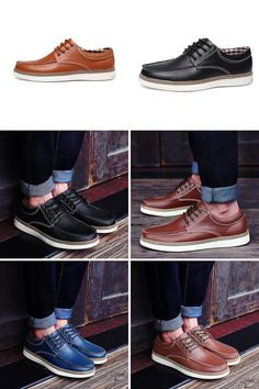 Big Size Sewing Lace Up British Oxford Casual Shoes For Men