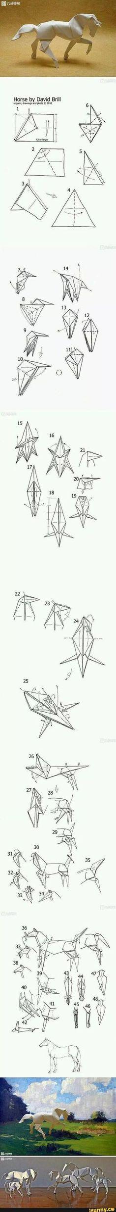 Caballo Origami Tutorial