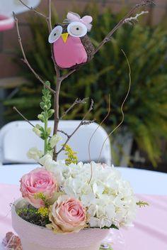 No me gusta la buha pero la idea de flores abajo no esta fea