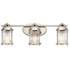 Shop For Kichler Lighting Ashland Bay Collection 3 Light Polished Nickel  Bath/Vanity Light