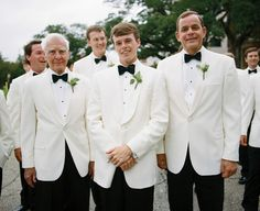 classic white dinner jackets! | A Bryan Photo #wedding