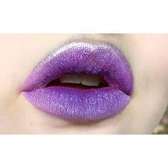 "Lippies  I used @limecrimemakeup velvetines ""pansy"" and ""rave""   @makeupstore eyedust surface   Glitter from REQ   #lips #lotd #lipart #lippie #limecrime #mua #makeup #makeupartist #muashootingstar"