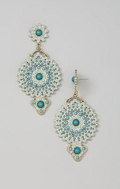 Gold Medallion De'angelo Drop Earrings