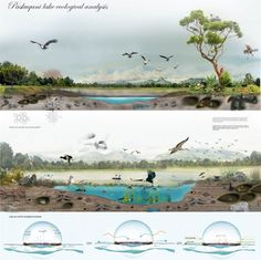 Click to enlarge Concept Architecture, Landscape Architecture, Architecture Illustrations, Architecture Design, Ground Floor Plan, Natural Resources, Natural Life, Presentation Design, Ecology