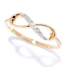 Crickets Crush 14K Gold Embraced™ 0.04ctw Diamond Infinity Band Ring