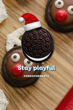 Season's treatings! Surprise someone special this holiday with playful recipes like these OREO Reindeer. Christmas Deserts, Christmas Party Food, Holiday Snacks, Christmas Appetizers, Christmas Cooking, Christmas Goodies, Holiday Recipes, Christmas Candy, Simple Christmas