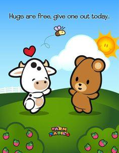 Petite vache avec un ours <3