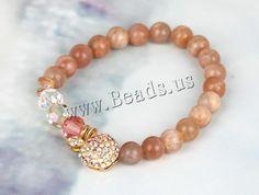 Sea #Opal #Bracelet,  jewelry  http://www.beads.us/product/Sea-Opal-Bracelet_p143234.html?Utm_rid=219754