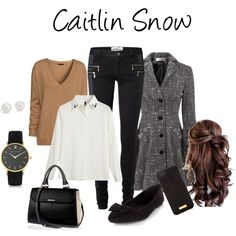 Caitlin Snow #flash by timelordsandpineapples on Polyvore featuring Chicnova Fashion, H&M, Vero Moda, River Island, Larsson & Jennings, Blue Nile and Henri Bendel