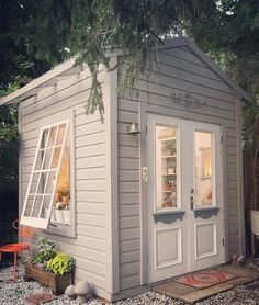 garden shed A She Shed is the perfect addition to any size backyard. Diy Storage Shed Plans, Backyard Storage Sheds, Wood Shed Plans, Backyard Sheds, Diy Shed, Outdoor Sheds, Garden Sheds, Outdoor Storage, Garden Tools