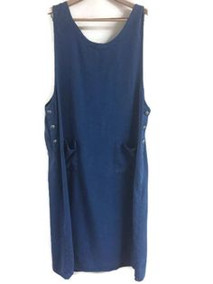 Froxx Denim Look Jumper Dress Side Buttons Size Plus Size 2X 3X Easy Care #Froxx #Jumper #Casual