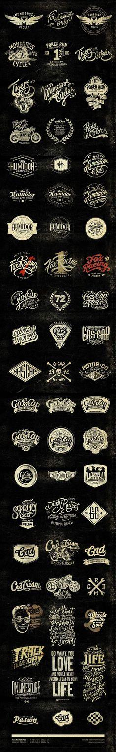 "Beautiful ""vintage"" typography from Alex Ramon Mas Designs - Alex Ramon Mas Studio:"