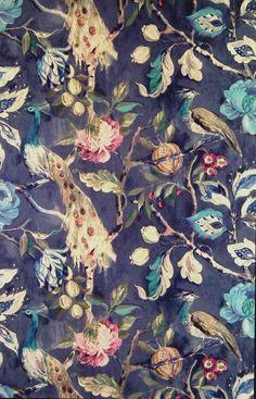 Hampton Court Sapphire (19911-710) – James Dunlop Textiles | Upholstery, Drapery & Wallpaper fabrics