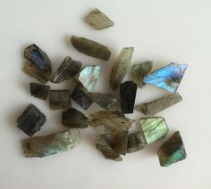 160CT NATURAL LABRADORITE ROUGH SLICE GEMS FLASHY LOOSE LOT RAW MINERAL SPECIMEN #ROUNDSNROSES