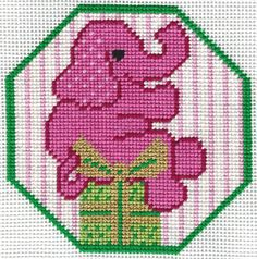 I just finished stitching X45 Elephant. It's off to the finisher! This is the needlepoint canvas that we will be doing for the next Lilly Sit & Stitch.