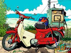 My Little Honda 50 by Eoin Coveney, via Behance
