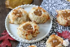 Salted Caramel Coconut Thumbprints