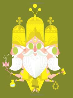 Learn about Sanjay Patel, the mastermind illustrator behind Ghee Happy and learn about indian deities. Indian Illustration, Cute Illustration, Krishna, Shiva, Indiana, Indian Paintings, Abstract Paintings, Oil Paintings, Watercolor Paintings