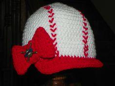 Little girl baseball baby hat.