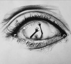 Eye art et dessin image # art # dessin image Creepy Drawings, Dark Art Drawings, Art Drawings Sketches Simple, Creepy Art, Pencil Art Drawings, Drawings Of Eyes, Tattoo Sketches, Dark Art Illustrations, Easy Sketches To Draw