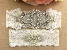 Rhinestone Wedding Bridal Garter Set