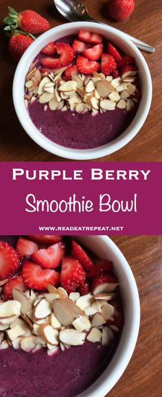 Quick, healthy, exceptionally purple smoothie bowl recipe!