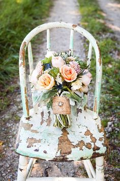 rustic bouquet by Floral V Designs