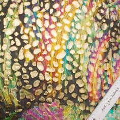 Designer Rainbow/Gold Floral Silk Lamé (£79.90/metre) | Joel & Son Fabrics
