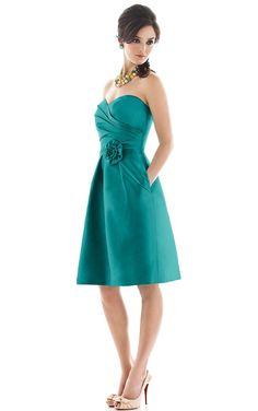 Elegant Sweetheart A-line Knee-length Bridesmaid Dresses,Natural Bridesmaid Dresses,Bridesmaid Dresses