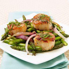 Pan-Seared Scallops with Lemon Vinaigrette - Fitnessmagazine.com