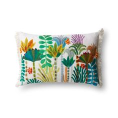 Palm Tree Fringe Bolster Pillow from The Jungalow