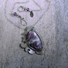 Custom Order For JuliAnna-Purple Agate Stone and от EraArtJewelry