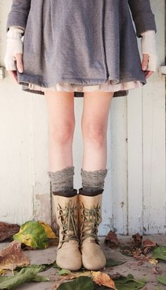 from the boots to the socks to the dress. <3