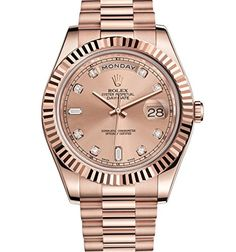 #rolexladieswatches ROLEX DAY-DATE II ROSE GOLD PRESIDENT WATCH PINK DIAMOND DIAL Check https://www.carrywatches.com