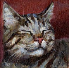 "Daily Paintworks - Original Fine Art © J. Dunster - Daily Paintworks – ""Content Tabby"" – Original Fine Art for Sale – © J. Animal Paintings, Animal Drawings, Rose Drawings, Indian Paintings, Watercolor Cat, Cat Drawing, Art Sketchbook, Aesthetic Art, Pet Portraits"