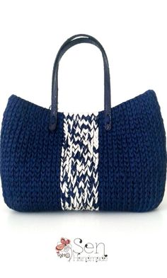 Bags : Navy colours tote bag
