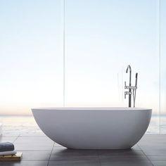 Badekar Bathlife Ideal Design Støpemarmor 134538 Duravit, Wall And Floor Tiles, Washroom, Bathroom Inspiration, Outdoor Chairs, Sink, Bathtub, Interior Design, Luxury