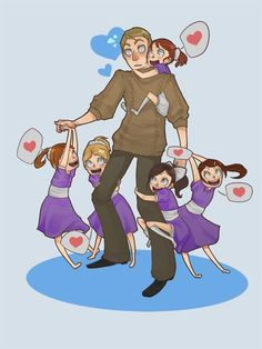 Awwwww. Jack and the Little Sisters. BioShock.