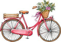 Vintage bicycle Art Print by - X-Small Bicycle Drawing, Bicycle Painting, Shabby Chic Wall Art, Bicycle Illustration, Bicycle Wedding, Vintage Bicycles, Vintage Bicycle Art, Canvas Art Prints, Watercolor Paintings