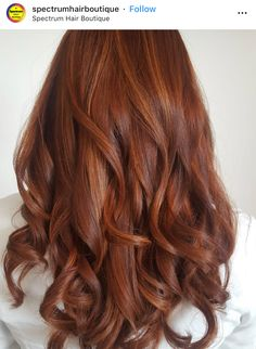 Kupferrot # Kupferrot - All For Hair Color Balayage Balayage Hair, Ombre Hair, Auburn Balayage, Wavy Hair, Red Hair Inspo, Copper Red Hair, Copper Hair Colors, Hair Colours, Cooler Stil