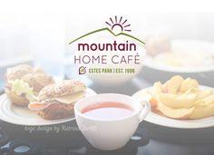 Mountain Home Cafe In Estes Park Clean Simple Logo Design By Katrina Zerilli