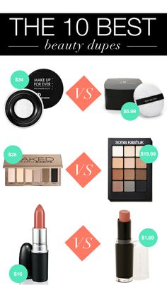gotta try these makeup dupes Beauty Dupes, Beauty Hacks, Beauty Products, All Things Beauty, Beauty Make Up, Expensive Makeup, Make Up Dupes, Makeup Is Life, High End Makeup