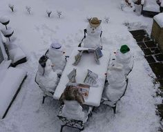 Snowman party - love this for when it snows!