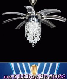 2017 42 Inch Ceiling Fan Light 42 Inch Led Ceiling Fans Light AC 110V 220V  Invisible Blades Crystal Wings Ceiling Fans Modern Fan Lamp Living Room  Bedroom ...