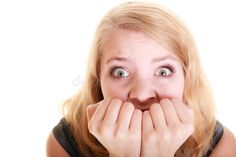 Afraid Businesswoman Frightened Woman. Stress In Work. Stock Photo - Image of fright, stress: 42926714