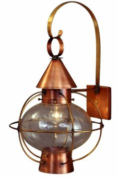 Newport harbor wall sconce outdoor copper lantern copper lantern cape cod onion lantern copper wall light nautical lantern handmade in usa from solid copper and brass rustic wall sconce porch patio entry and deck mozeypictures Image collections