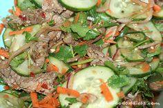 thai beef salad. Marinate over night for best flavor.
