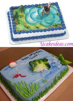 Bass Fishing Cake Ideas: 2014 Kuchen Designs I. Fancy Cakes, Cute Cakes, Bass Fish Cake, Cake Cookies, Cupcake Cakes, Fish Cake Birthday, Retirement Cakes, Bass Fishing, Ice Fishing