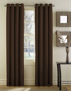 Modern Brown Curtain Panels