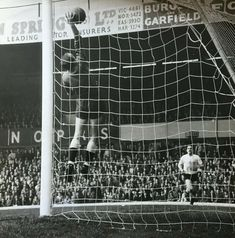 Birmingham 0 Tottenham 2 in Dec 1962 at St Andrews. Bill Brown uses his height to catch the ball St Andrews, Birmingham, 1960s, Photo Wall, Louvre, English, Football, Retro, Brown